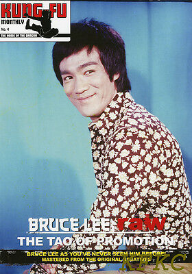 """BRUCE LEE RAW """"THE TAO OF PROMOTION"""" Fold-Out Poster-Magazine KFM #2 Rare Pics"""