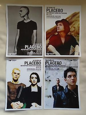 PLACEBO In Concert 20 Years of Placebo UK Arena Tour 2016 Promo tour flyers x 4