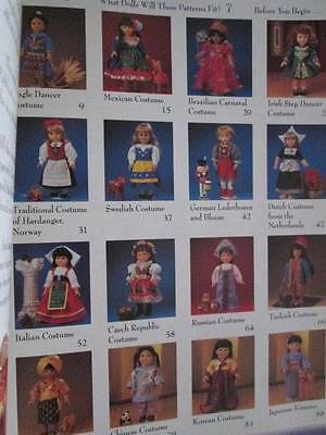 Sew The International Wardrobe For 18 Inch Dolls Book-Hinds-16 Costumes UNCUT Pa