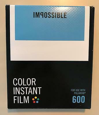 NEW Impossible Instant Film Color 600 Polaroid 8 Photos Classic White Frame