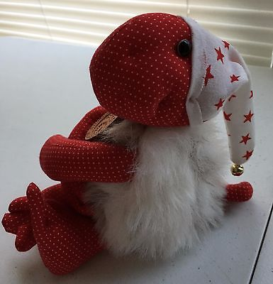 """Charleen kinser designs wish keeper 1998 hand signed 10"""" red faux fur plush"""