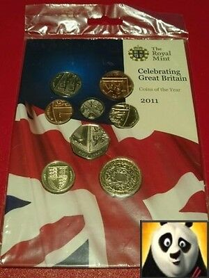 2011 Royal Mint Definitive Annual 8 Coin Sealed Set Celebrating Great Britain