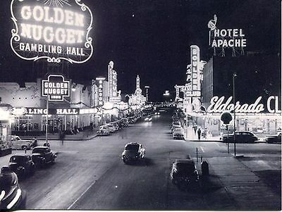 Post Card Of Vintage Las Vegas Before 1950 All Casinos Are In Old Downtown