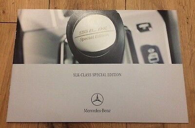 Mercedes Benz SLK Class R170 Special Edition brochure # LIMITED EDITION # 2003
