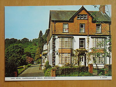 Old Postcard Of The Lake Hotel ,llangammarch Wells, Breconshire