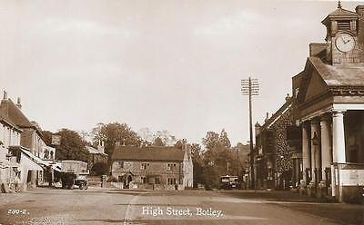 1930s Botley High Street Scene Unused Hampshire Local Issue RP Postcard
