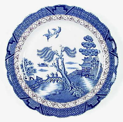 Booths REAL OLD WILLOW Luncheon Plate 2402495