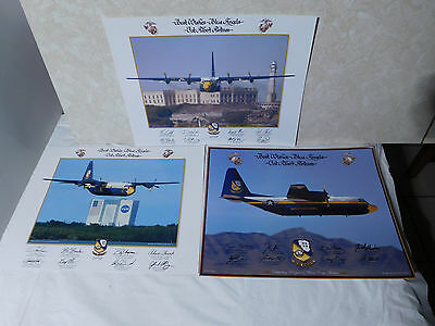 3 Posters 2008,2009,2012 Best Wishes Blue Angels FAT ALBERT AIRLINES 14x11""