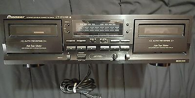 Pioneer CT-W208R double auto reverse Casette/Tape Deck Player,Recording,Dubbing