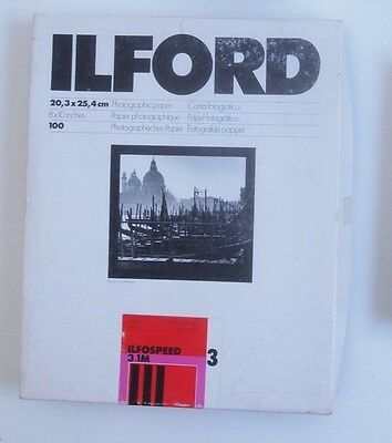 Ilford ILFOSPEED 3.1M Photographic Paper 8 x 10 in 20.3 x 25.4 cm Sheets 100