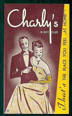 1950's Charley's Night Club Brochure - Luxembourg