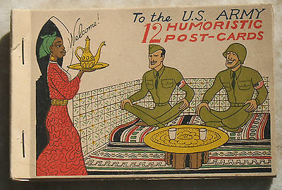 WWII Postcard booklet - North Africa campaign - 12 postcards - RARE