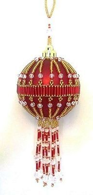 Z190 Bead PATTERN ONLY Beaded Westminster Christmas Ornament Cover Pattern