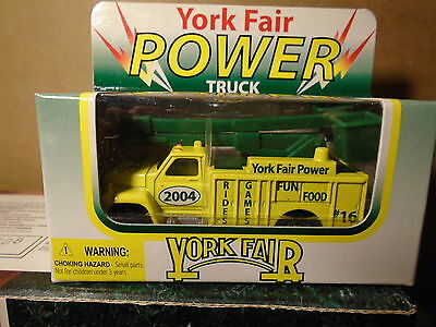 2004 York Fair Collectible Diecast Power Truck  By WRC 16 In Series Matchbox