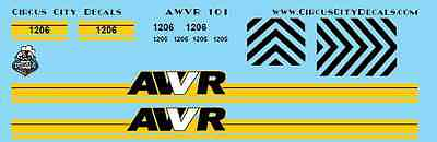 AWVR Unstoppable Movie Custom Decals Blue 1206 SD40-2 CP N Scale