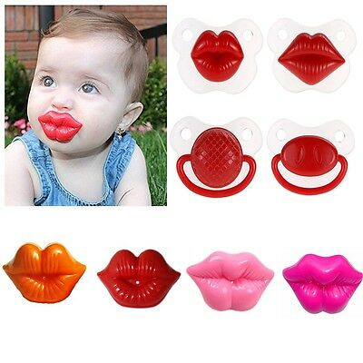 Funny Orthodontic Soother Baby Silicone Nipple Pacifier Teether Dummy Lip