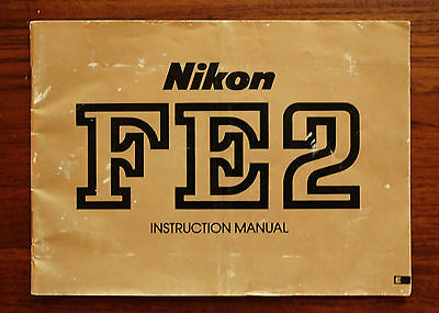 Genuine Nikon FE2 users instruction manual