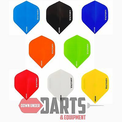 Victory Darts XS100 Dart Flights, 100 Micron  - Choose Your Colour