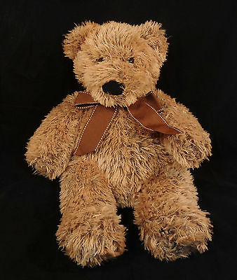 "20"" FAO Schwarz Toys-R-Us Plush Shaggy Brown Teddy Bear 2011- Stuffed Animal 3+"