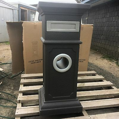 Black Letterbox With Quality Steel Fittings