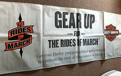 "Harley-Davidson Gear Up For The Ride Of March Outdoor Poly  Banner  94""' x 36"""