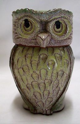 Vintage Clive Brooker Pottery Good Luck Owl Pot England Exc Con