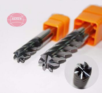 Solid Carbide 6Flute Extra Long TiALN End Mills Cutting Dia 16mm HRC55