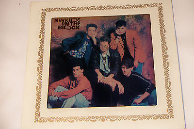 Vintage New Kids On The Block Carnival Prize Painted Glass w Frame 6x6