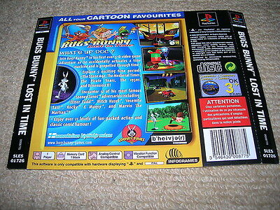 BUGS BUNNY : LOST IN TIME – PS1 PAL Rear Box Art Insert Only