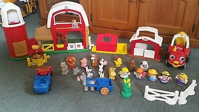 Fisher Price Little People Animal Farm & Tractor + Extra Animals & Figures