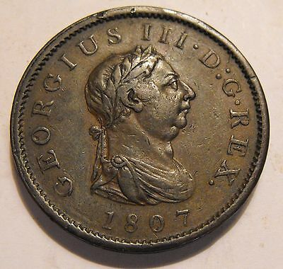 1807 George III Penny . Collectable grade.