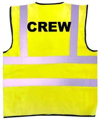 CREW High Visibility Vest Stage Lighting Theatre Stage DJ