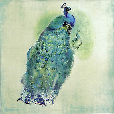 4x Paper Napkins -Peacock Royale- for Party, Decoupage