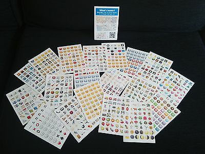 Pack 912 Emoji Removable Die Cut Vinyl Stickers for Tablets, Laptops & Crafting