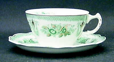 Grindley BRUSSELS GREEN (GOLD TRIM) Cup & Saucer 169192