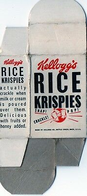 "Vintage Kellogg's Rice Krispies 2"" Sample Cereal Box"