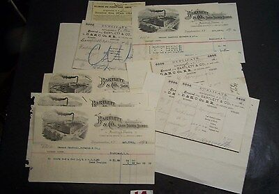8-Delaware & Hudson Canal Co Railroad-Bill Of Ladings With Invoices-1890-1891