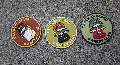 Lot of 1/5/10pcs Tactical Beard Owners Club Military Patches Hunting Patch