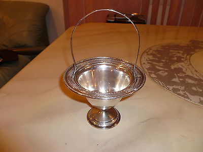 Antique J.S. Co., Sterling Silver Rare Candy  Handled Bowl 196 Grams