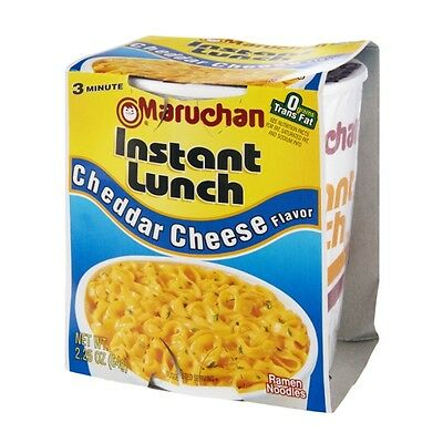 Maruchan Instant Lunch Cheddar Cheese Flavor 2.25 oz. Noodle Soup 12 Pack