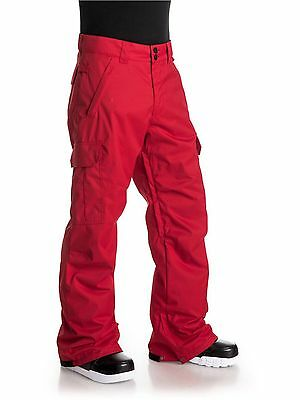 DC 'Banshee' Cargo Insulated Ski/ Snowboard Pants Red size Small 50% Off RRP