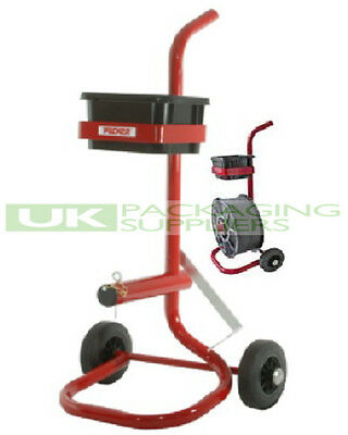 Heavy Duty Metal Mobile Trolley Stand For Pallet Strapping Banding Coils + Tools