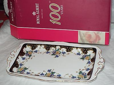Royal Albert Bone China 100 Years DUCHESS 1910`s  SANDWICH TRAY New & Box