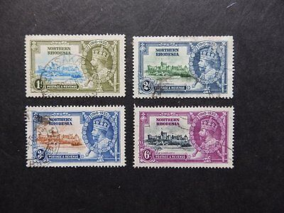 Northern Rhodesia 1935 Silver Jubilee Used Stamp Set Sg 18-21 Cat £19