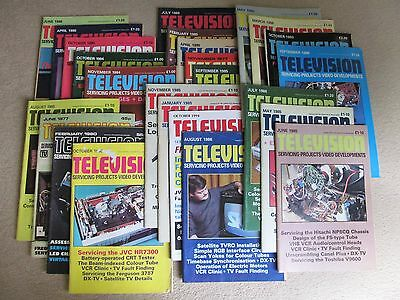 Vintage Television Servicing Magazine, 25 Editions from Seventies to Nineties