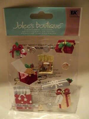Ek Success Jolee's Boutique Christmas Gifts Dimensional Stickers Bnip
