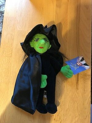 "Wizard Of Oz ""wicked Witch Of The West"" Beanie Plush Doll Warner Bros"