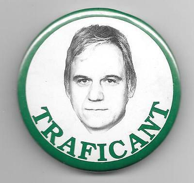 (James) Traficant picture pinback button pin