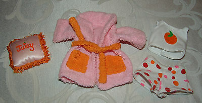 Groovy Girls Outfit Dolls Clothes Robe, Juicy PillowTank Top Shorts Orange Pink