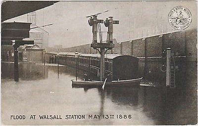 Postcard. Disaster. Flood At Walsall Station, 1886